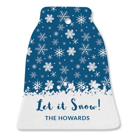 Snowfall Personalized Ornament Bell