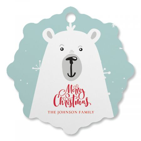 Polar bear Personalized Ornament Snowflake