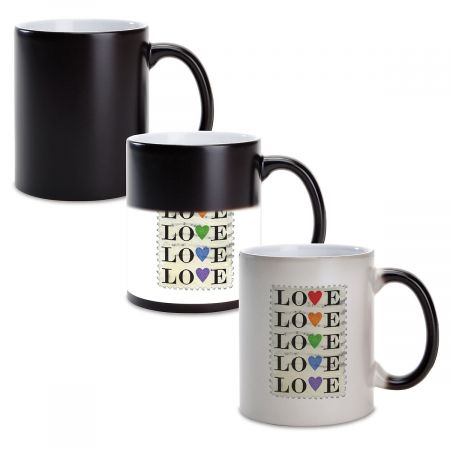 Love Stamp Personalized Ceramic Mug