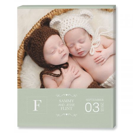 Baby Picture Green Photo Canvas