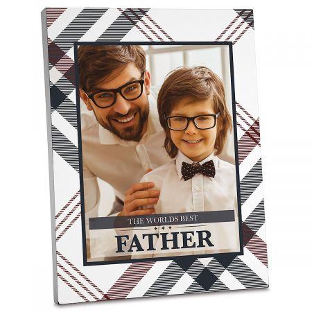 Plaid Personalized Photo Plaque