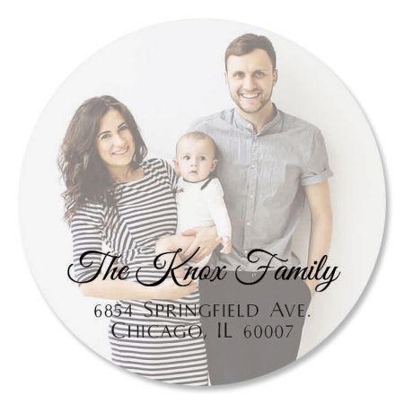 Full Photo Round Address Label