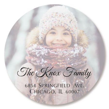 Full Round Photo Personalized Address Labels