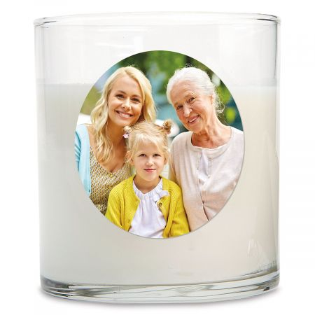 Full Personalized Photo Candle
