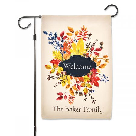 Personalized Fall Garden Flag Personalized Fall Garden Flag