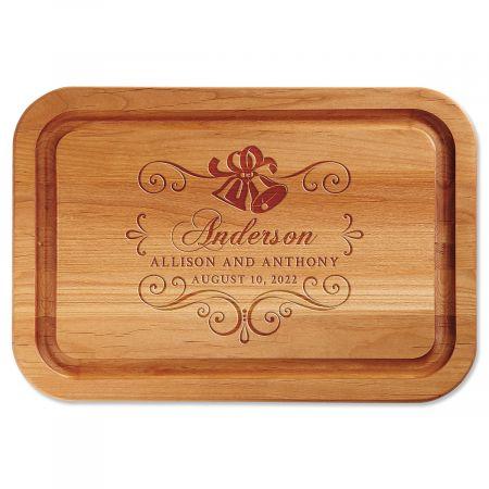 Wedding Bells Engraved Wood Cutting Board