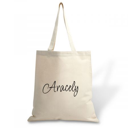 Personalized First Name Canvas Tote