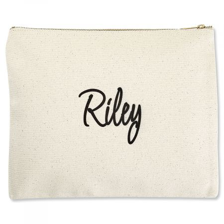 Personalized First Name Zippered Pouch