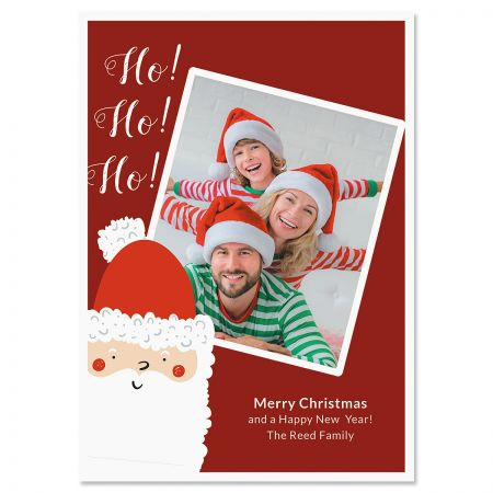 Ho Ho Ho Personalized Photo Christmas Cards