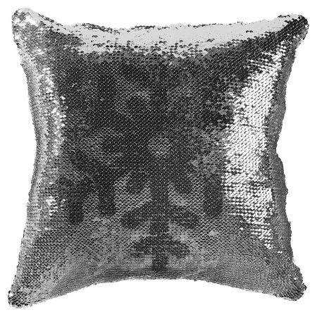Sequined Holiday Snowflake Pillow turned
