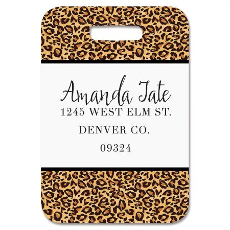 Cheetah Print Personalized Luggage Tag