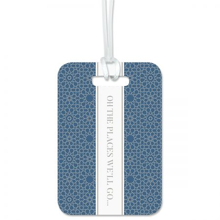 Oh The Places We'll Go Personalized Luggage Tag Keep track of backpacks, suitcases and sports bags. 2 3/4 x 4  plus strap. Specify 1 line up to 20 characters and 2 lines up to 36 characters each.