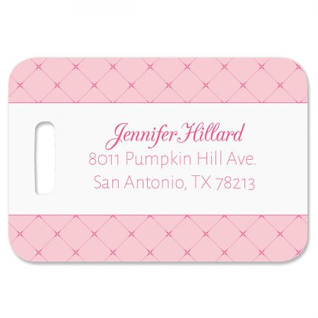 Tuffed Puffed and Pink Personalized Luggage Tag