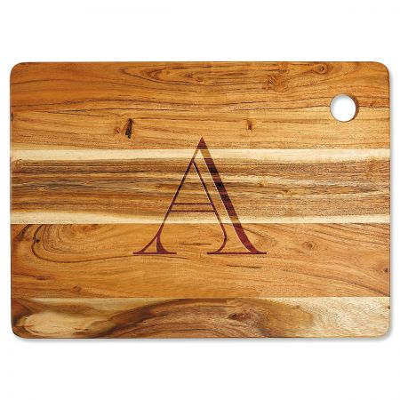 Acacia Styled Initial Engraved Large Cutting Board