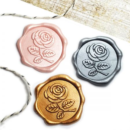 Rose Adhesive Wax Seal Stickers