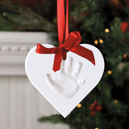 Heart Shaped Handprint Ornament Kit