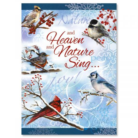 Winter Carol Nonpersonalized Christmas Cards - Set of 18