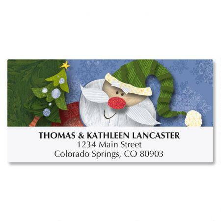 Kringle CollageChristmas Address Labels