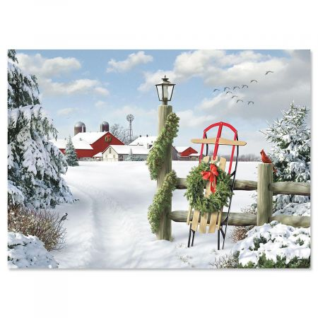 Winter in the Country Christmas Cards
