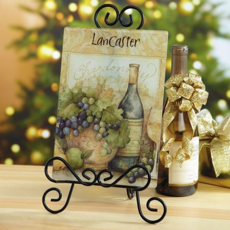 Wine Bottle Tempered Glass Cutting Board