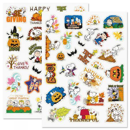 PEANUTS® Autumn Stickers - BOGO