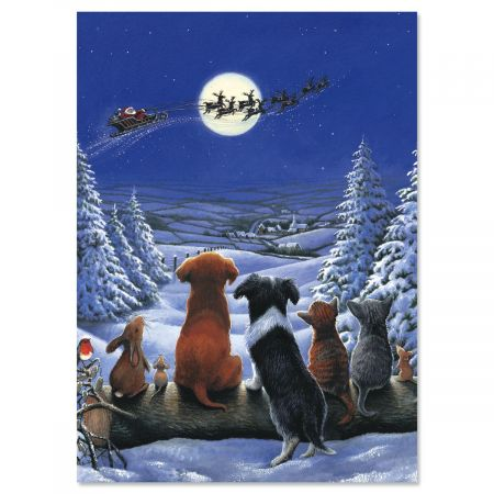 Christmas Dreams Personalized Christmas Cards - Set of 18