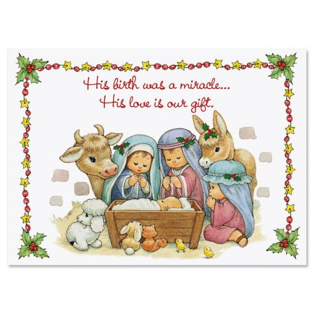 His Love Is Our Gift Religious Christmas Cards