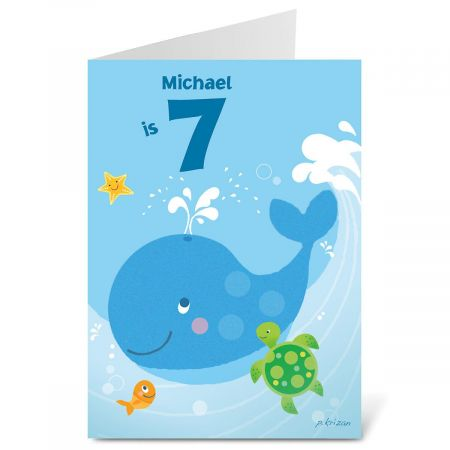 Birthday Whale Birthday Create-A-Card
