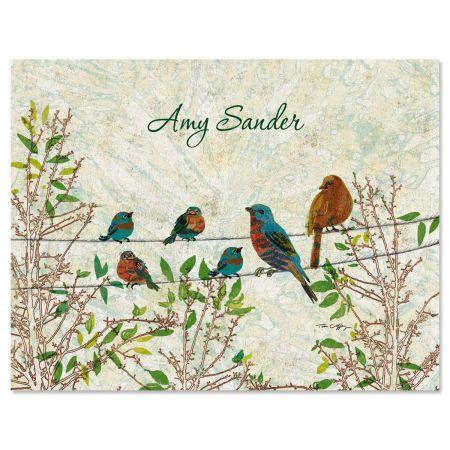 Birds Personalized Note Cards