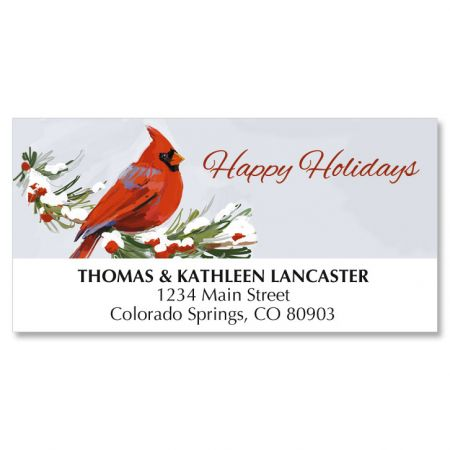 Cardinal Christmas Address Labels