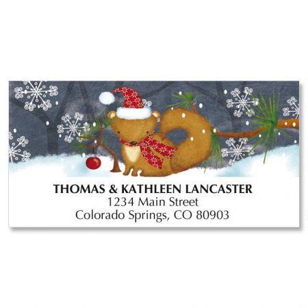 Little Fox Christmas Address Labels