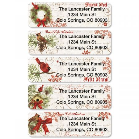 Joyelle Rolled Address Labels  (5 Designs)