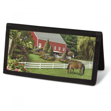 Country Life  Checkbook Cover - Non-Personalized