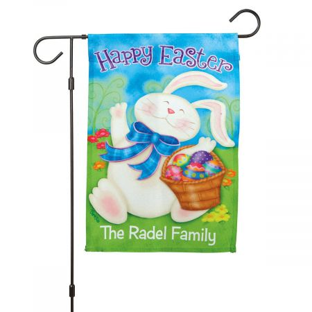 Personalized Easter Garden Flag