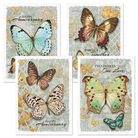 Butterfly Anniversary Cards and Seals