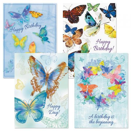 Butterfly Riot Birthday Cards