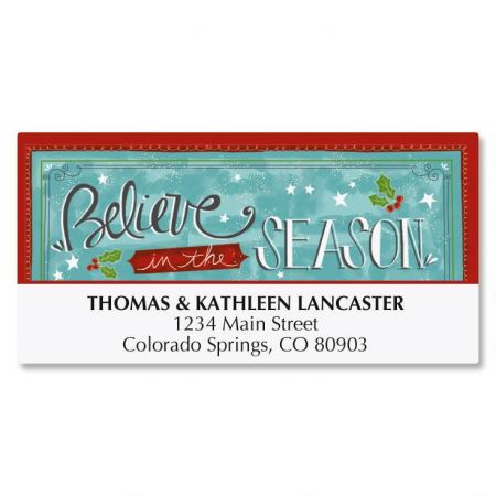Believe Christmas Deluxe Address Labels