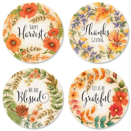 Harvest Floral Envelope Sticker Seals