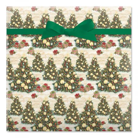 Christmas Tree Jumbo Rolled Gift Wrap