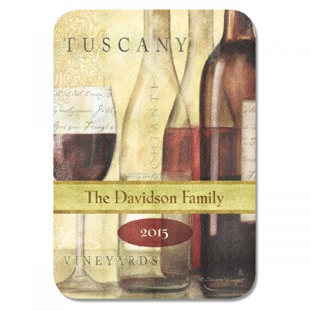Wine Bottles Tempered Glass Cutting Board