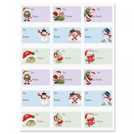 Santa & Friends To/From Labels