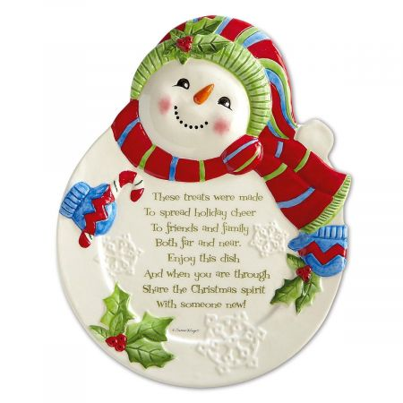 Pass it on Snowman Plate