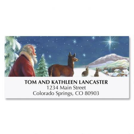 Santa and Star Address Labels