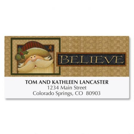 Santa Believe Address Labels