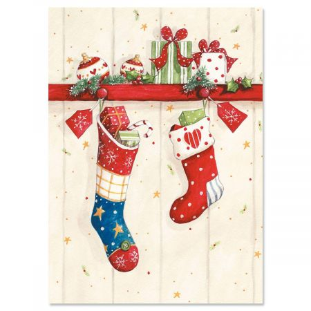 Sweet Stockings Christmas Cards