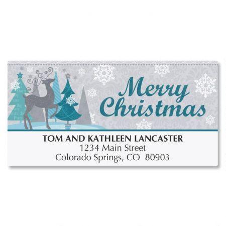 Reindeer Shimmer Deluxe Address Labels