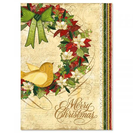 Boughs of Holly Christmas Cards