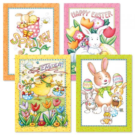 Mary Engelbreit® Pastel Border Easter Cards