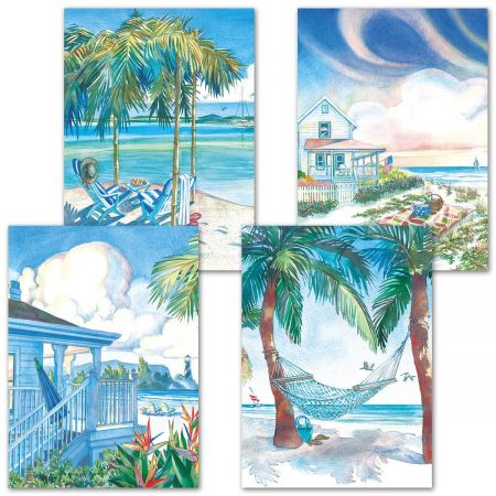 Seaside Serenity Birthday Cards