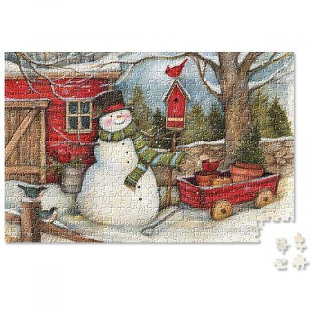 Snowman Heart & Home Puzzle